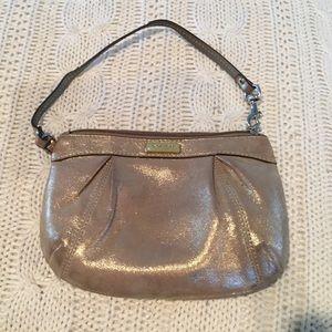 Coach Gold mini purse